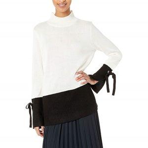 Calvin Klein Womens Pullover Mockneck Colorblock